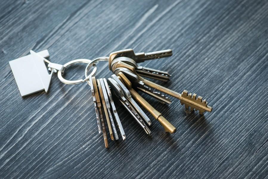 trousseau de clés maison
